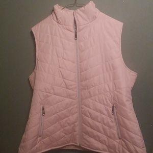 Black Rivet Pink Women's Vest Zippered Pockets, XL